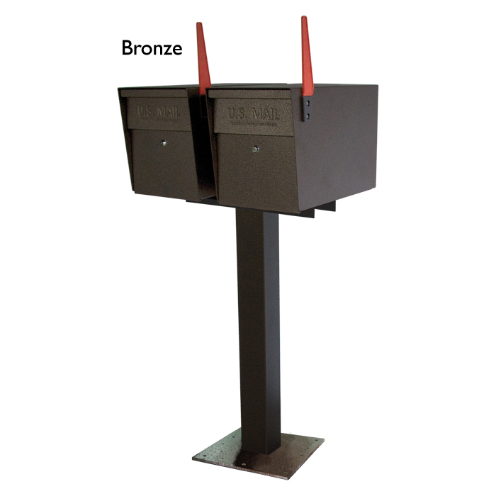 2 Mail Boss with surface mount Bronze