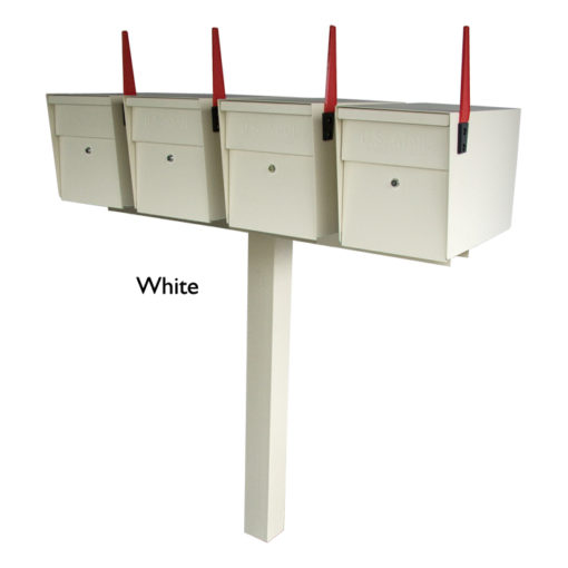 4 Mail Boss with in ground Post White