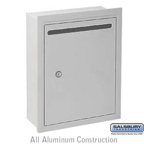 Letter Box Standard Recessed Mounted Aluminum Finish Private Acc
