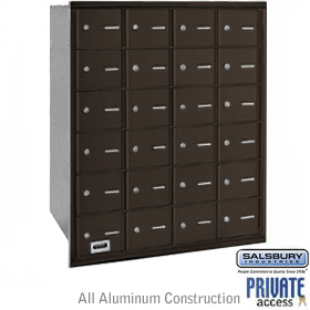 24 Door 4B+ Horizontal Mailbox Bronze Rear Loading A Doors Priva