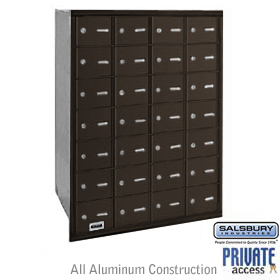 28 Door 4B+ Horizontal Mailbox Bronze Rear Loading A Doors Priva