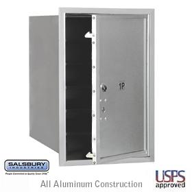 4C Horiz Mb Stand Alone Parcel Locker 1 Pl6 Single Column Alumin