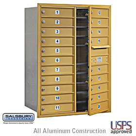 4C Horiz Mb 20 Mb1 Doors Double Column Gold Front Loading Usps A
