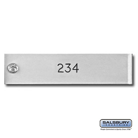 Custom Engraving Black Filled For Aluminum 4C Horizontal Mailbox