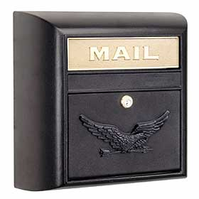 Modern Mailbox Black Eagle Door