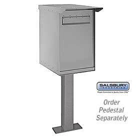 Pedestal Drop Box Regular Gray
